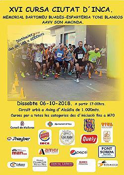 XVI Cursa Ciutat d'Inca 2018