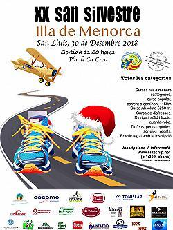 XX Sant silvestre Illa de Menorca 2018